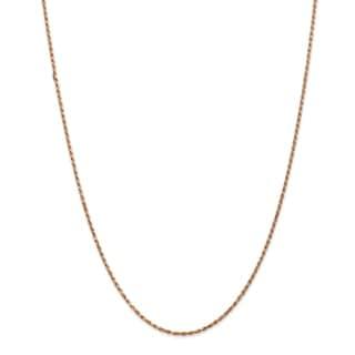 Versil 14 Karat Rose Gold 1.8mm Diamond-cut Rope Chain