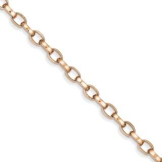 Versil 14 Karat Rose Gold 5.0mm Fancy Link Bracelet