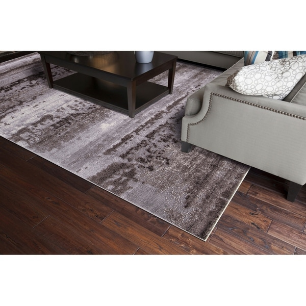 """Concord Global Thema Distressed Brown Rug - 3'3"""" x 4'7"""""""