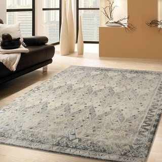 RugSmith Grey Prime Distressed Vintage Inspired Area Rug - 3' x 5'