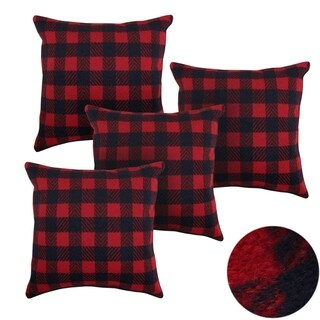 Home Decorative Sofa Throw Pillowcases Red and Navy Blue