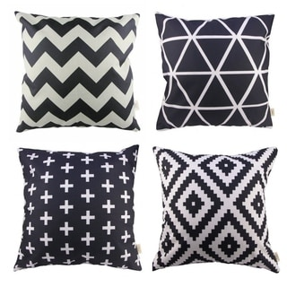 Home Decor Design Throw Pillow Case Black and White