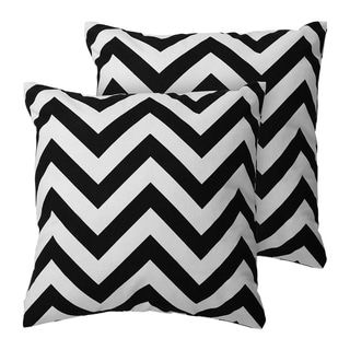 Throw Pillows for Couch Cushion Covers 18 x 18 Inch Black
