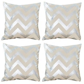 Decorative Geometic Cushion Throw Pillow Cover Silver