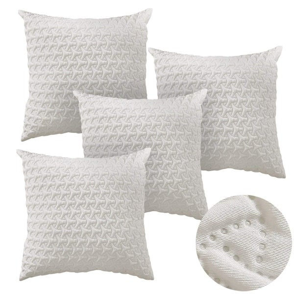 Microfiber Cushion Covers For Travel Use 18x18 Inch Beige