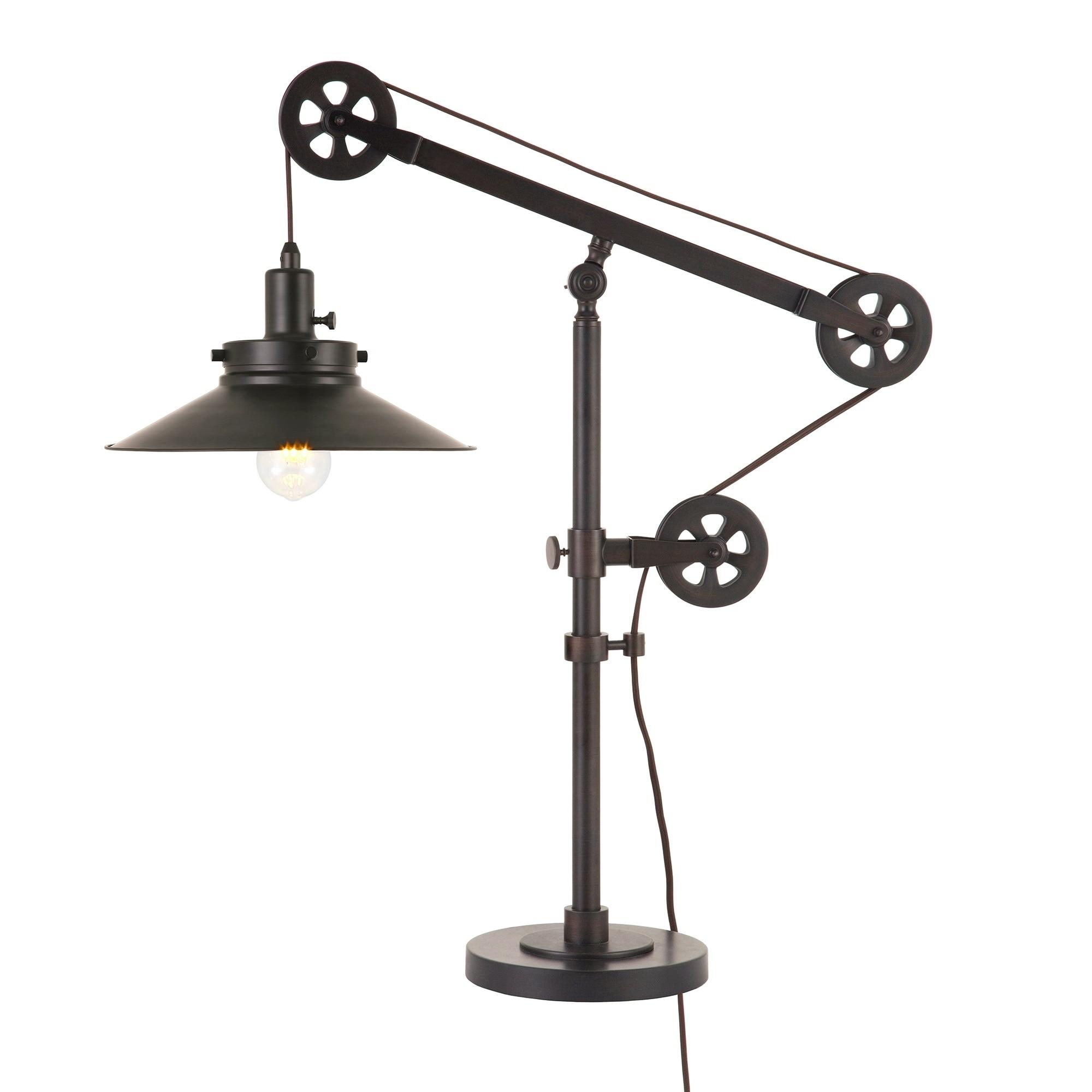 thumbnail 8 - Carbon-Loft-Melville-Wide-Brim-Table-Lamp