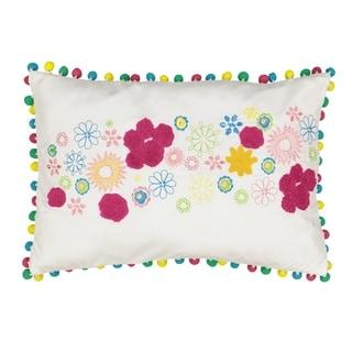 Waverly Spree Copacabana Embroidered Pom Pom Decorative Pillow