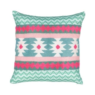 Waverly Spree Always on Point Aztec Embroidered Decorative Pillow