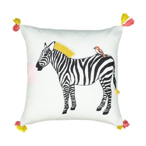 Waverly Spree Wild Life Zebra Decorative Pillow