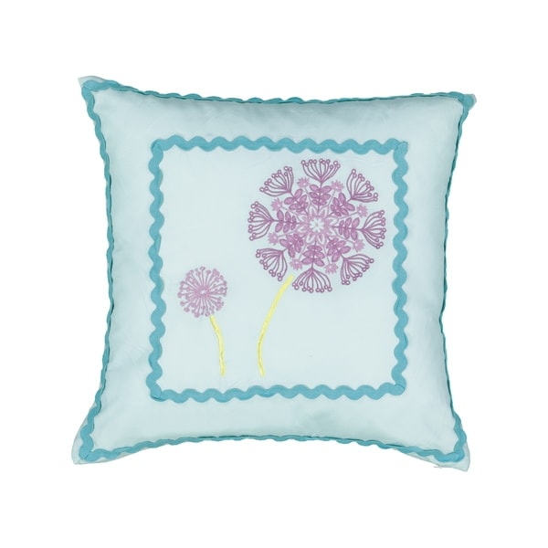 Waverly Kids Hoo Dreams Dandelion Embroidered Decorative Pillow