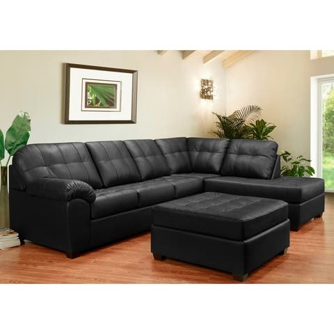 Buy Black, Leather Sectional Sofas Online at Overstock | Our ...