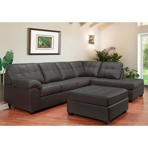 Buy Grey Leather Sectional Sofas Online At Overstock Our Best