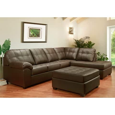 Buy Brown, Leather Sectional Sofas Online at Overstock | Our Best ...