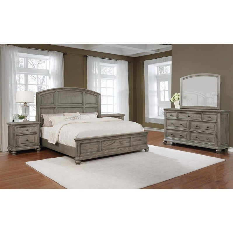 Best Master Furniture Antique Grey 5 Pieces Bedroom Set