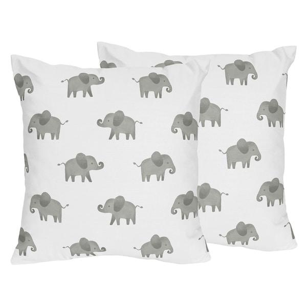 Shop Sweet Jojo Designs Grey 40in Decorative Accent Throw Pillows Impressive Safari Decorative Pillows