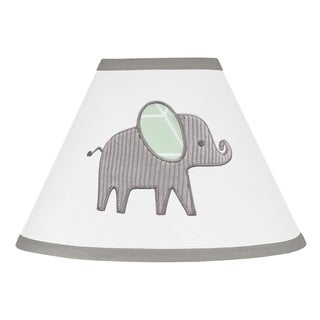 Sweet Jojo Designs Mint, Grey and White Watercolor Elephant Safari Collection Lamp Shade