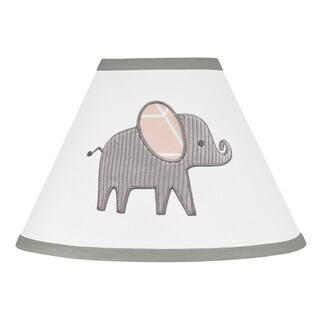 Sweet Jojo Designs Blush Pink, Grey and White Watercolor Elephant Safari Collection Lamp Shade
