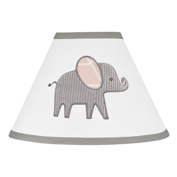 Sweet Jojo Designs Blush Pink Grey And White Watercolor Elephant Safari Collection Lamp Shade Free Shipping On Orders Over 45