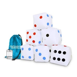 GoSports 6 Pack Giant Inflatable Dice 6 Pack with Tote Bag