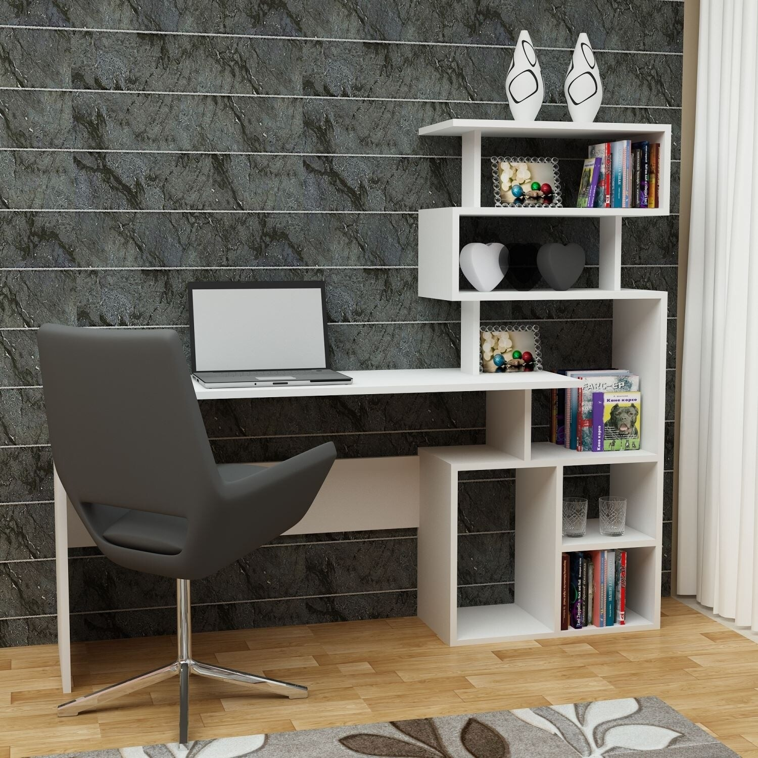 quality design ce006 20218 Decorotika - Next Generation Computer Desk with Shelves - Ideal for Home  Office