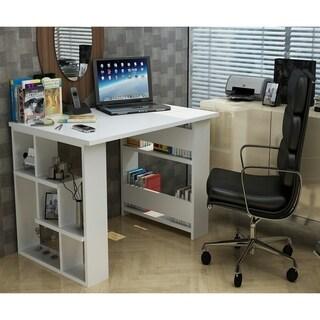 Decorotika Jazz Matte White Space Saver Desk