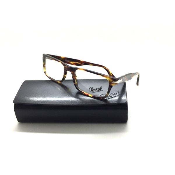 26682e6acf4 Shop Persol Rx-able Eyeglasses 3050-v 938 53-18 140 Striped Brown ...