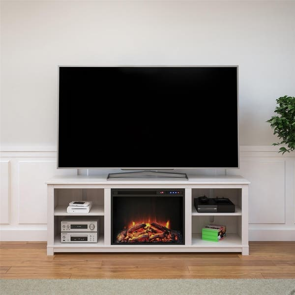 Shop Avenue Greene Barrown Downs Tv Console With Fireplace For Tvs
