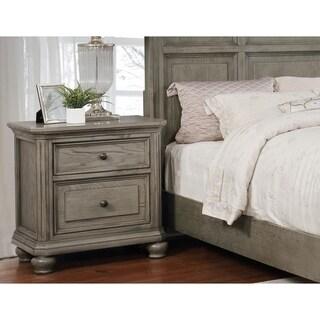 Best Master Furniture Antique Grey Pinewood 2-drawer Nightstand