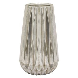 "19.5 "" Resin Three Hands Vase- Silver Finished in Silver"