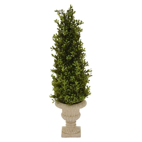 """25 """" Resin Three Hands Faux Topiary Pot Finished in Green"""