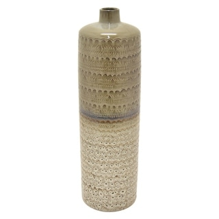 "24 "" Porcelain-Ceramic Three Hands Ceramic Vase Finished in Gray"