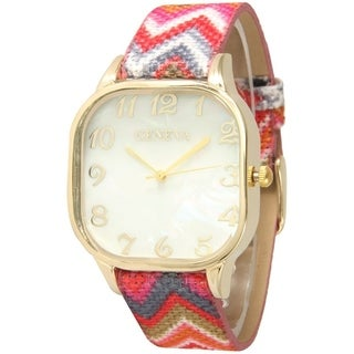 Olivia Pratt Weaved Chevron Pattern Watch