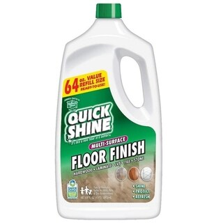 Quick Shine Multi-Surface Floor Finish and Polish, 64 oz. Refill Bottles, 2 Pack