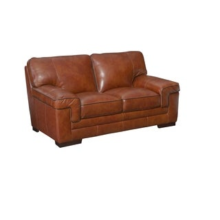 Simon Li Bellevue Top Grain Leather Love Seat