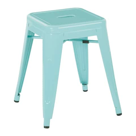 "Patterson 18"" Metal Backless Barstool"