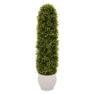 "27.5 "" Resin Three Hands Faux Topiary Pot Finished in Green"