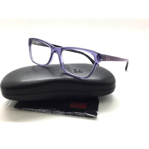 c229939fbde Shop Ray Ban RB5298 5230 Rectangle Purple Clear Eyeglasses Optical ...