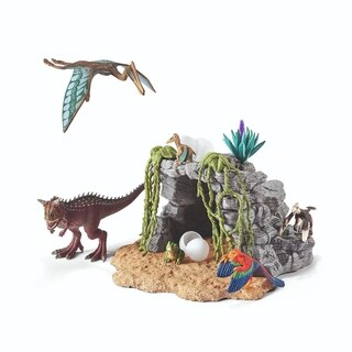Schleich, Dinosaur Set with Cave Toy Figure