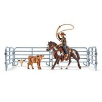 Schleich Farm World, Team Roping with Cowboy Set