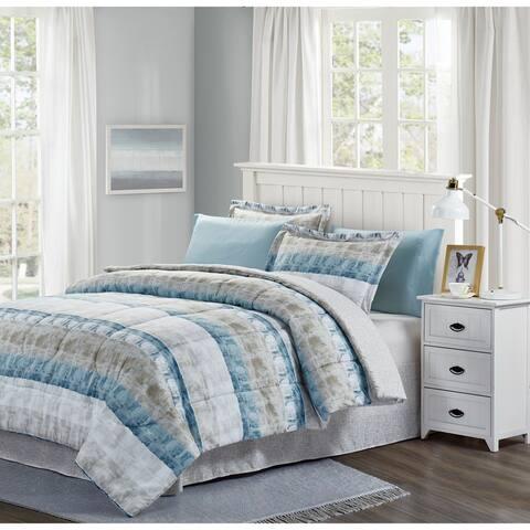 Beige, Blue & Grey? Raphael 8-Piece Bed-In-Bag Set