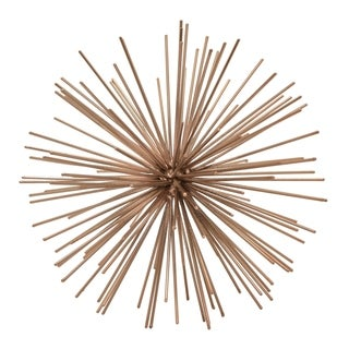 """8 """" Metal Three Hands Starburst Orb - Copper Finished in Copper"""