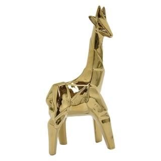 Three Hands Ceramic Giraffe-Gold