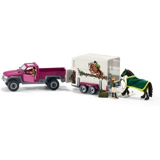Schleich Horse Club, Pick-up with Horse Box Toy Figure