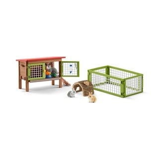 Schleich Farmland, Rabbit with Hutch Toy Figure
