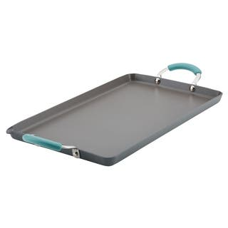 """Rachael Ray Hard Anodized Nonstick 18"""" x 10"""" Double Burner Grill"""