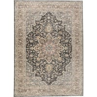 "Grand Bazaar Huron Gray/Charcoal Rug - 1'8"" x 2'8"""