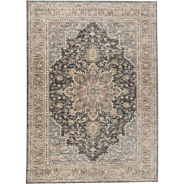 "Grand Bazaar Huron Gray/Charcoal - 3'11"" x 5'5"""