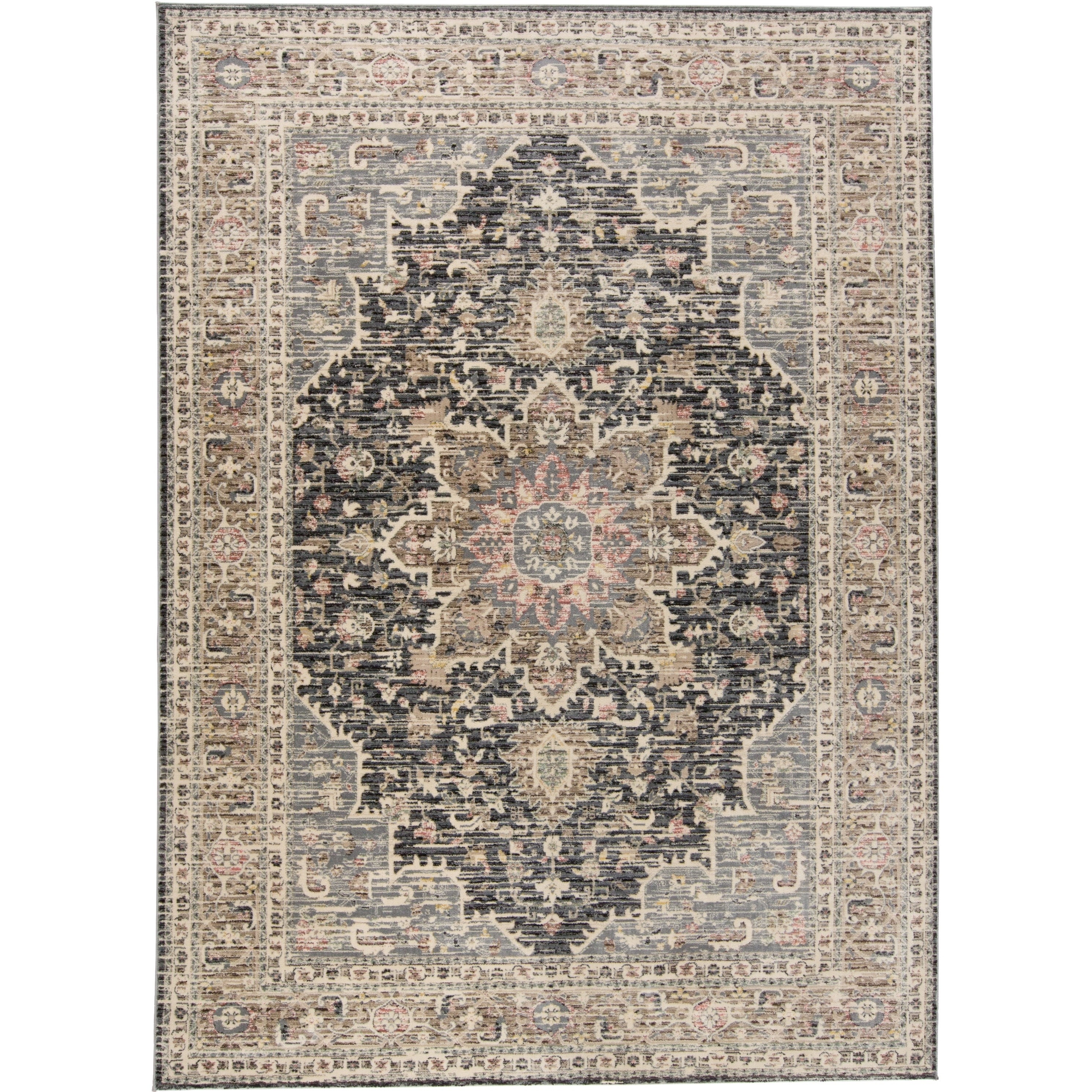 Grand Bazaar Huron Gray/Charcoal Rug - 411 x 78 (Grey/Charcoal - 411 x 78)