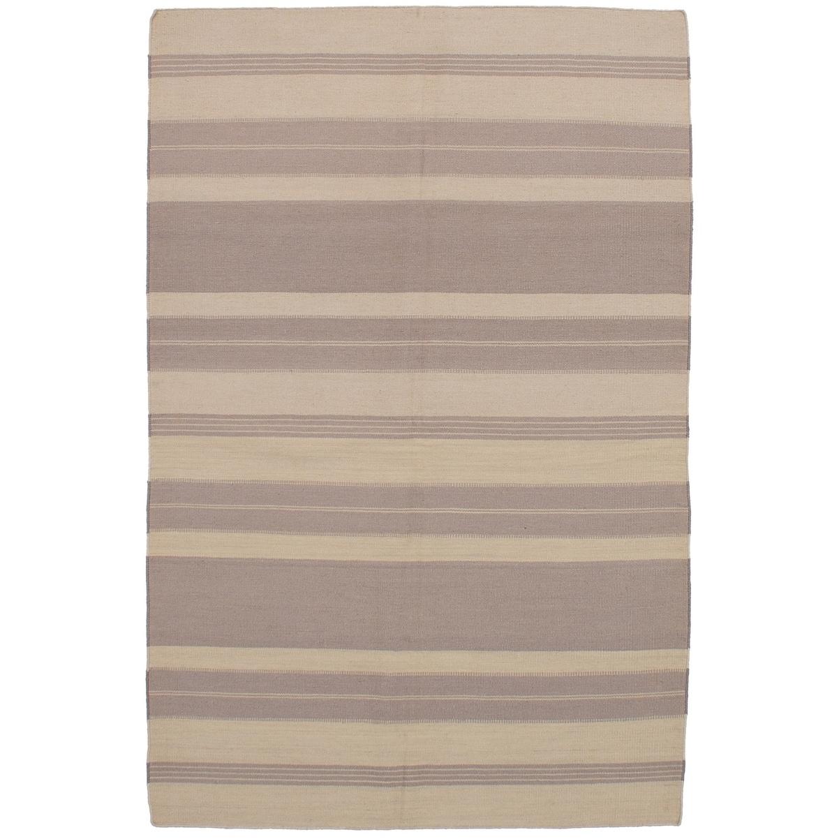 ECARPETGALLERY Flat-weave Ankara FW Grey Wool Kilim - 50 x 710 (grey - 50 x 710)