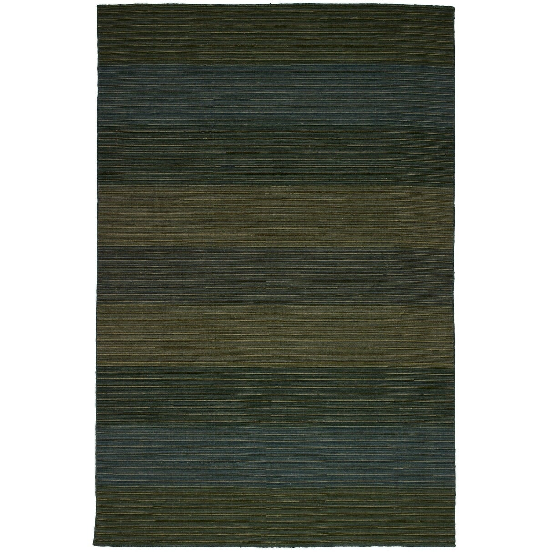 eCarpetGallery  Flat-weave Manhattan Green Wool Kilim - 67 x 910 (Green - 67 x 910)